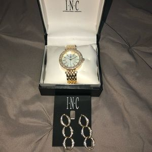 INC international set -watch and earnings set. NEW
